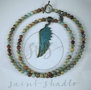 "Handmade: Rye by Saint Shadle; 24"" necklace"